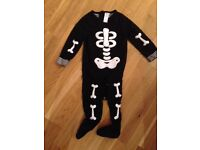 Two baby sleep suits - Hallowe'en 9-12 months
