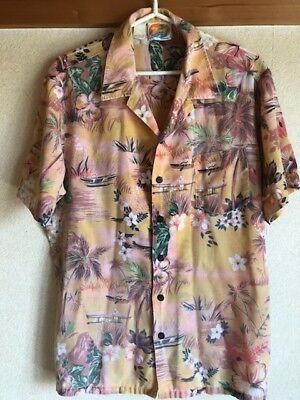 Aloha Shirt Flral Japanese old Clothes Used
