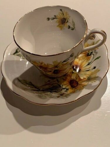 Beautiful Royal Standard Brown Eyed Susan Fine Bone China Cup and Saucer.