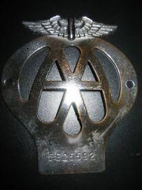 AA member car badge