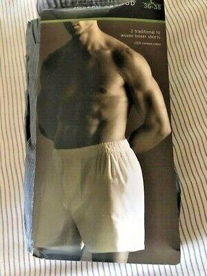Joseph Abboud Gray Traditional Fit Cotton Woven Boxer Shorts Size Large 36-38 Gray Cotton Boxer Shorts