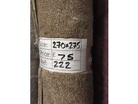 Essential classic carpet remnant - 2.70x2.75m - £75 - Ref 222