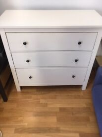 Ikea Hemnes - Chest of 3 drawers-very good condition, fully functional - half price - pick up only