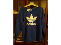 Women's blue adidas sweatshirt size medium