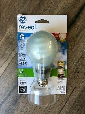 63509 GE Reveal 20W CFL Covered 75W Replacement Bulb FLE19HB21/2RVL/CD Ge Reveal Cfl