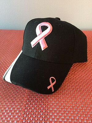 Breast Cancer Awareness Pink Ribbon Baseball Hat Cap Adjustable New