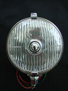 LUCAS 576 SFT DRIVING LIGHT (PAIR) WITH CLEAR 55 WATT HALOGEN BULBS 12V.
