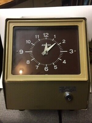 Amano 6507 Time Clock Mechanical Time Clock 6500 - 6700 Series