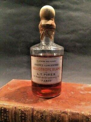 """Flacon de Parfum ancien L.T. PIVER """"Héliotrope Blanc"""" (1860)"""