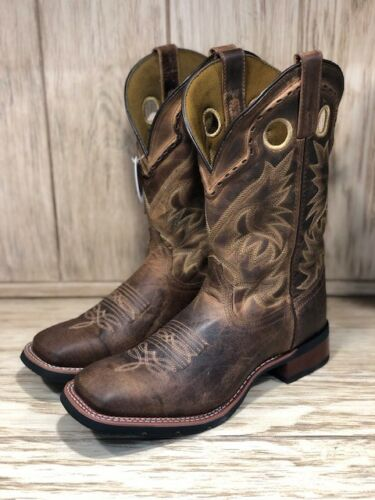 Laredo, Mens, Distressed, Tan, Kane, Square, Toe, Western, Boots, 7812