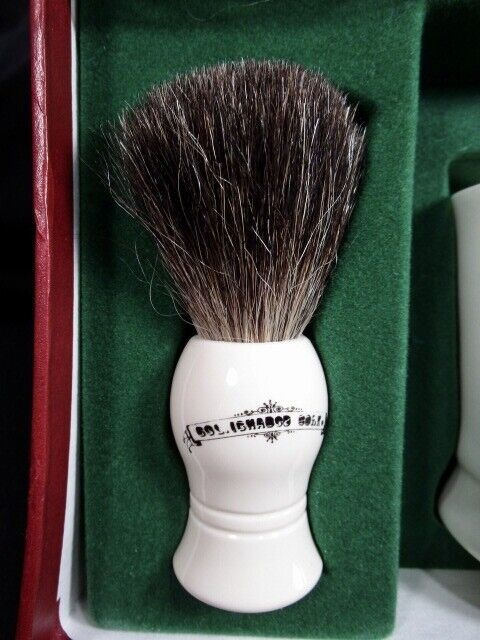 Col Ichabod Apothecary Style Shaving Set In Original Box - $19.99