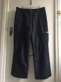 Ski pants - mens, size XL, black