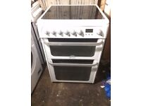 £133.99 Hotpoint new model ceramic electric cooker+60cm+3 months warranty for £133.99