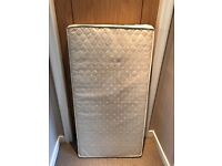 Cot Mattress from John Lewis 1200 x 600 lightly used with removeable cover