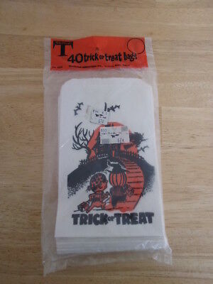 Vintage Halloween Trick or Treat Bags UNOPENED Woolworth's