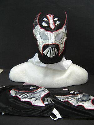 LOT of 3 SIN CARA BLACK WRESTLING MASKS KIDS niños wrestler lucha libre FREE SHI ()