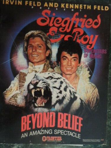 Siegfried & Roy Beyond Belief An Amazing Spectacle Las Vegas Frontier Program