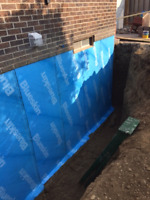 UNDERPINNING, WATERPROOFING, BENCH FOOTING