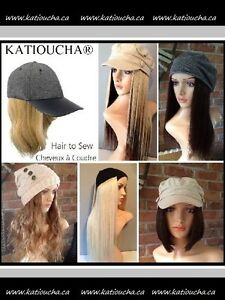 HUMAN HAIR ready to Sew to Chemo cancer Hat,Cap,Beanie,Turban...