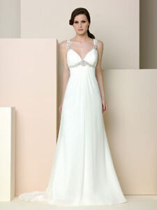New-Straps-White-Ivory-Cheap-Wedding-Dress-Bridal-Gown-Size-6-8-10-12-14-16