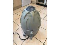 Lazy spa heater filter system