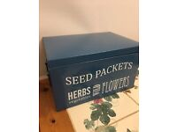Burgon and Ball Seed Packet Organiser - Petrol Blue - Brand New - £10