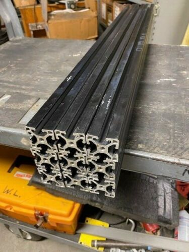 """PACK OF 9  32""""LENGTHS  of 8020  T SLOTTED FRAMING RAILS  1.5X1.5"""" BLACK ANODIZED"""
