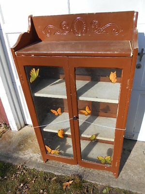 Unusual Early 1900's Student Folding,Double Glassed Door  Bookcase