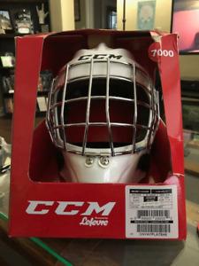 Brand New CCM 1.5 Goalie Helmet White Junior