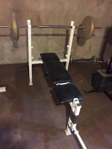 Flat Bench with Bar