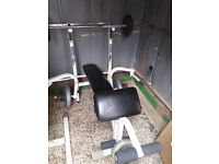 Weight bench competitor no weights
