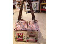 Yummy Mummy Baby Changing Bag - Pink Lining, Designer