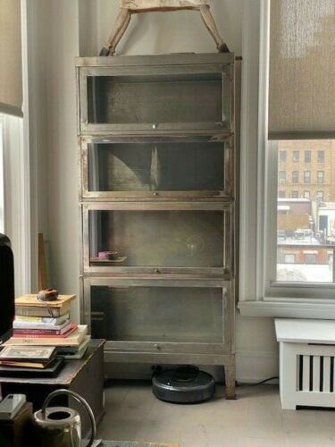VINTAGE STAINLESS STEEL BARRISTER BOOKCASE