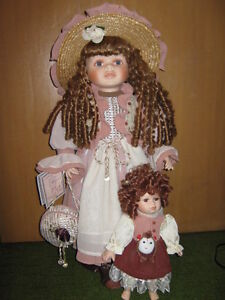 Red-headed 24 inch porcelain doll