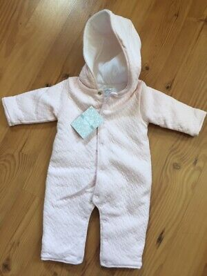 New Pink Jacquard Padded Pramsuit 0-3 months from Kissy Kissy