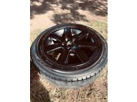 Black Alloys (Including Tyres)