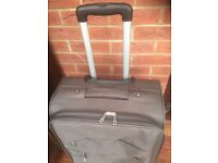 Grey Lightweight soft sided suitcase for sale