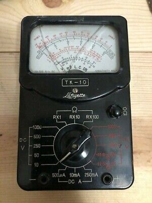 Antique Lafayette Tk-10 Multi-tester With Instructions