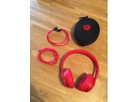 Beats Solo 2 Bluetooth Wireless Headphones in Red