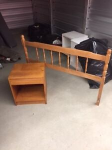 Head board and night stand