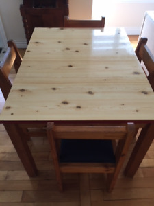 Recreation/ Dining Table and Chairs