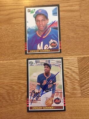 Mets Dwight Gooden Signed 1985 Donruss Box Bottom Rookie Card