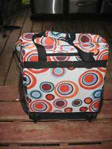 Multi colored Cloth Collapsible Suitcase