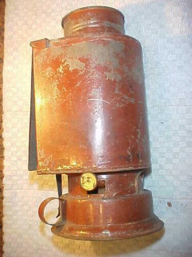 Antique Kodak Kerosene Tin Darkroom Lantern with Red Glass - Nice Condition