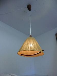 Temde Teak Holz Lampe  Mid Century 60er Jahre Danish Design