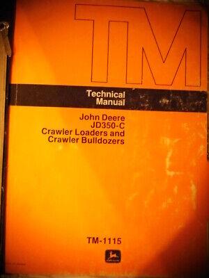 1985 John Deere 350-c Crawler Loaders Bulldozers Technical Manual Diagrams