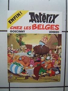 uderzo affiche promo asterix chez les belges en vente ici 30 5 x 40 5 cm ebay. Black Bedroom Furniture Sets. Home Design Ideas