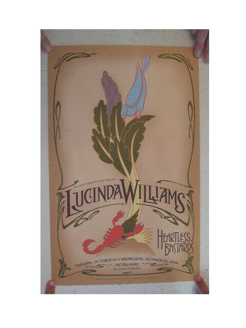 Lucinda Williams Concert Poster The Fillmore October 24 & 25, 2006