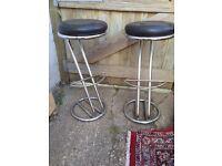 2 x breakfast bar stools for sale