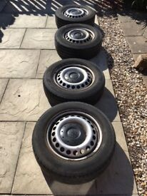 VW Transporter T5/T6 Steel Wheels & Tyres - Set of 4